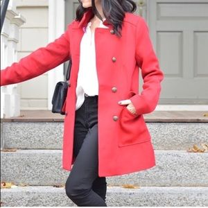 Red peacoat,used once..in great condition